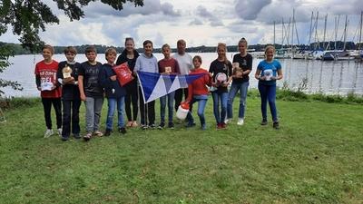 Optis der SGaM gewinnen bei Schwielochsee Pokalregatta –  Platz 1 und 2 bei den Opti A, Platz 1 bei den Opti B