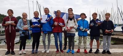 Regatta Bericht von der Berliner Jüngstenmeisterschaft Opti B auf dem Tegeler See 21.-22. August 2021